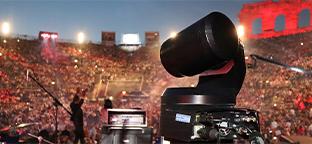 PTZ camera at a concert